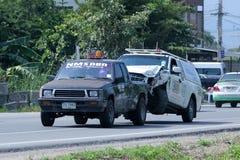 NMS Holownicza ciężarówka dla przeciwawaryjnego samochodowego ruchu Zdjęcia Royalty Free