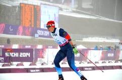 Nna Milenina (Ryssland) konkurrerar på vinterParalympic lekar i Sochi Arkivfoton