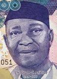 Nnamdi Azikiwe stående på nigeriansk 500 naira sedelcl 2016 Arkivfoton