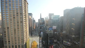 Nnew york city times square dawn to afternoon timelapse stock video footage
