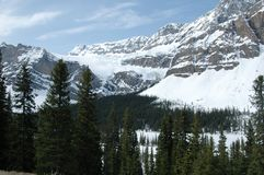NNorth American mountains and glacier Royalty Free Stock Photo