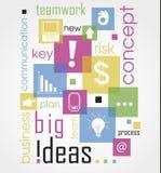 Nnovate bedrijfsdieconcept met woorden wordt gemaakt die een gloeilamp trekken concepten vectorillustratie Geïsoleerd op gekleurd Stock Afbeeldingen