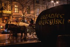 Nnual Christmas market at the Main square Stock Image