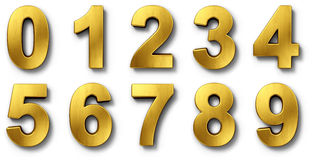 Nnumbers in gold Stock Images