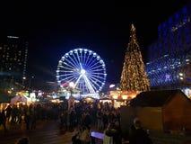 Noël à Birmingham Images libres de droits
