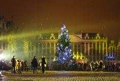 Noël à Bruxelles Photos libres de droits