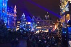 Noël à Bruxelles Images libres de droits