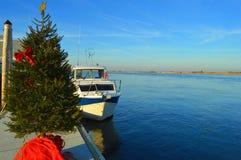 Noël à la marina Images libres de droits