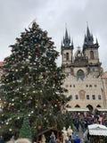 Noël à Prague images libres de droits