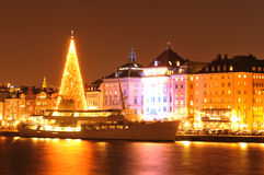Noël à Stockholm Photos libres de droits