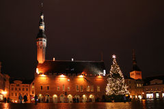 Noël à Tallinn, Estonie Photo stock