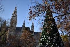 Noël à Vienne image libre de droits