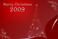 Noël 2009 se marient illustration de vecteur