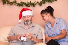 Noël aîné de famille Photo libre de droits
