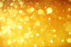 Noël abstrait d'or ou nouvelles années Photo libre de droits