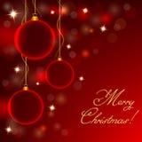 Noël abstrait de billes Photographie stock libre de droits