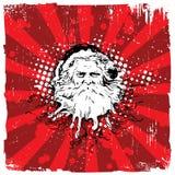 Noël abstrait Santa de fond Images libres de droits