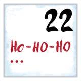 Noël Advent Calendar Éléments et nombres tirés par la main Photographie stock libre de droits