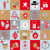 Noël Advent Calendar Images libres de droits