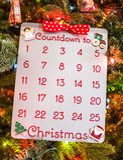 Noël Advent Calendar de vacances Image libre de droits