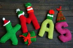 Noël, alphabet de Noël, fait main, tricoté, cadeau de noel Image stock
