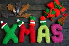 Noël, alphabet de Noël, fait main, tricoté, cadeau de noel Photos libres de droits