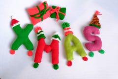 Noël, alphabet de Noël, fait main, tricoté, cadeau de noel Photo libre de droits