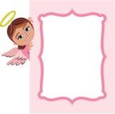 Noël Angel Girl Frame Image stock