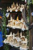 Noël annuel juste à la place principale du marché Cracovie, Pologne photographie stock libre de droits