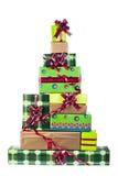 Noël-arbre fait de cadres de cadeau Photos libres de droits