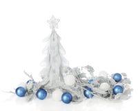 Noël Argent-bleu Image libre de droits