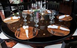 Noël, arrangement de table de nouvelle année, style asiatique Image stock