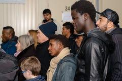 Noël au camp de réfugié allemand Photographie stock
