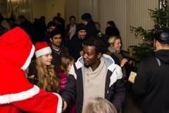 Noël au camp de réfugié allemand Image libre de droits