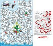 Noël aux pingouins illustration libre de droits