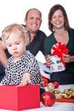 Noël avec ma famille Photo libre de droits