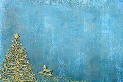 Noël badine des cartes de voeux Images libres de droits