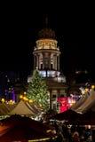 Noël Berlin de nuit photographie stock