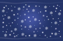 Noël bleu Image stock