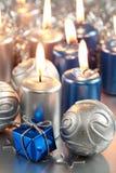Noël bleu Image libre de droits