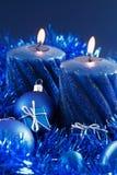 Noël bleu Photographie stock