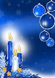 Noël bleu Photographie stock libre de droits