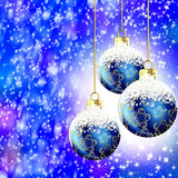 Noël bleu illustration de vecteur