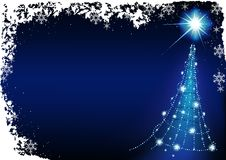 Noël bleu illustration stock