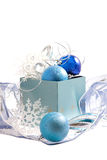 Noël bleu Photo stock