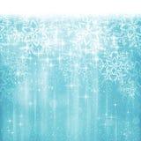 Noël bleu blanc abstrait, fond de flocon de neige d'hiver Images libres de droits