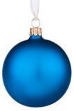 Noël bleu de babiole vibrant Photographie stock libre de droits
