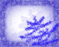 Noël bleu de carte Photo libre de droits