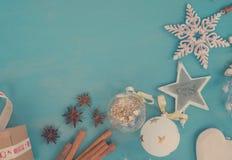 Noël bleu et blanc Photographie stock libre de droits