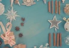 Noël bleu et blanc Photos libres de droits